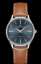 Hamilton 漢米爾頓 Jazzmaster Thinline 極簡時尚機械腕錶 H38525541 靛藍 銀 咖啡 40mm
