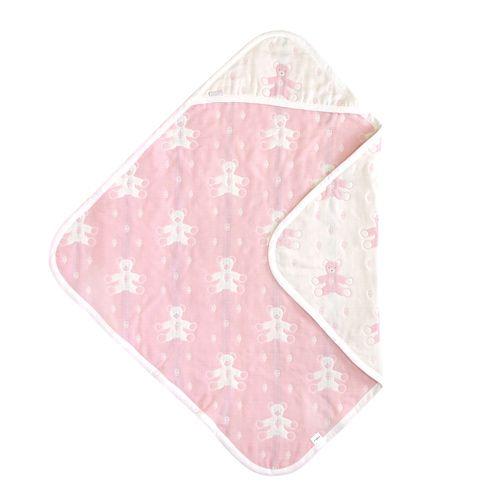 Hoppetta - Souleiado - 六層紗普羅旺斯熊包巾 (粉紅) 4