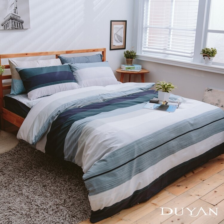 《DUYAN 竹漾》天絲絨單人/雙人/加大兩用被床包組【自由主張】 台灣製 單人 雙人 加大 床包 鋪棉兩用被