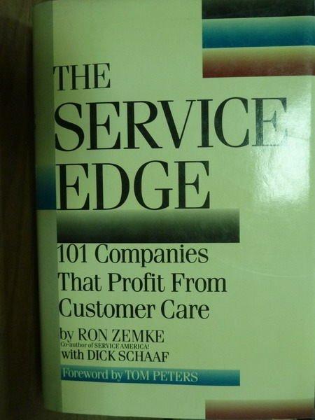 【書寶二手書T8/原文書_PEX】The Service Edge_Zemke,etc