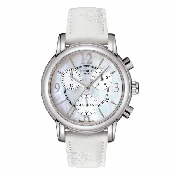 TISSOT天梭 T0502173711700 DRESSPORT時尚石英計時腕錶/珍珠母貝面35mm