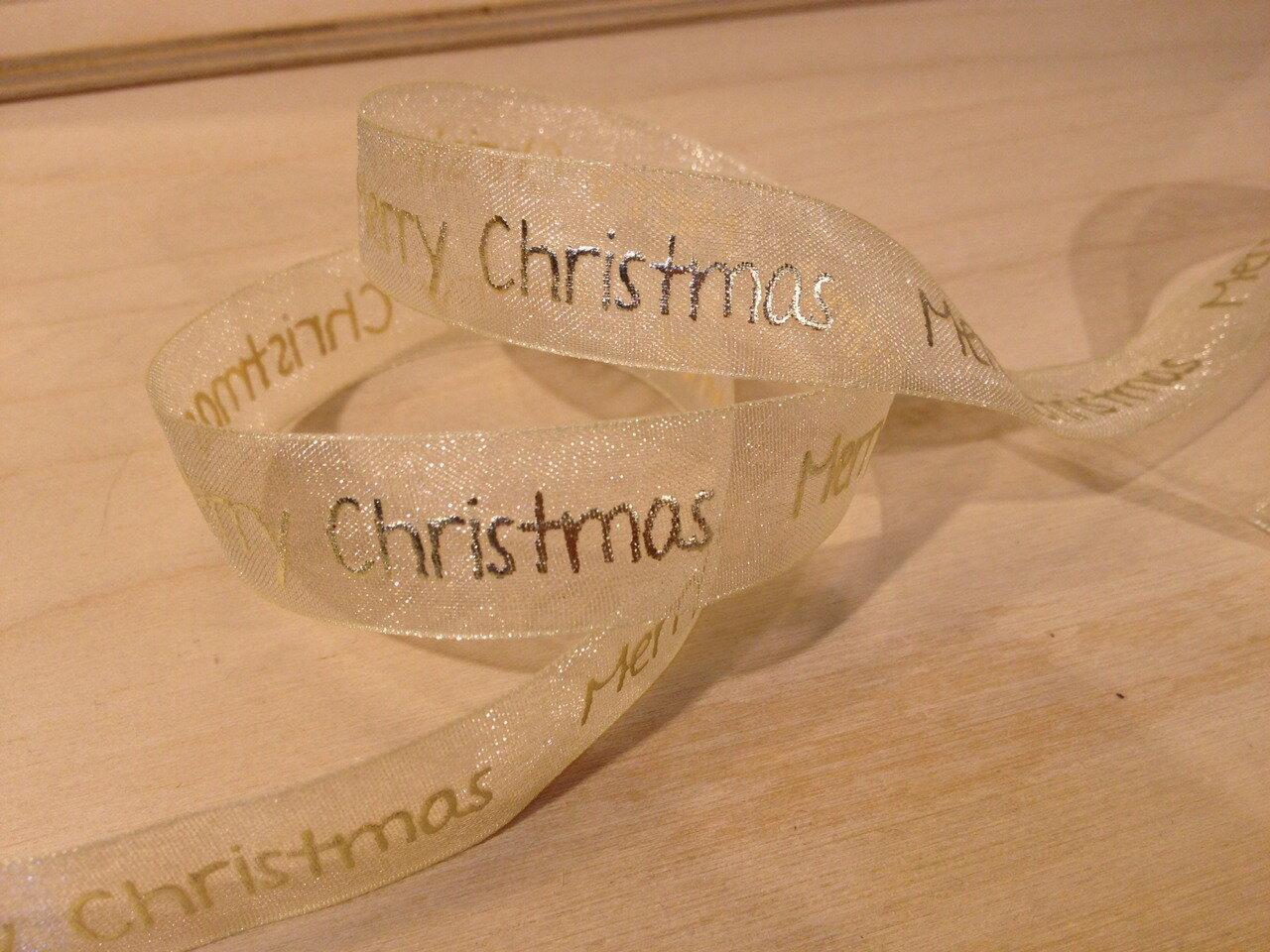 聖誕緞帶Merry Christmas(4色) 2