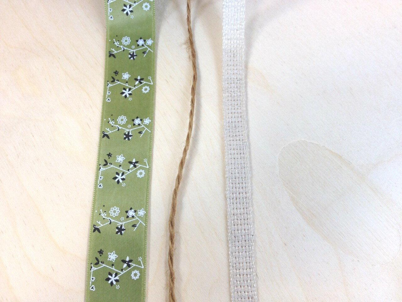 【Crystal Rose緞帶專賣店】純樸清綠 緞帶盒裝 1
