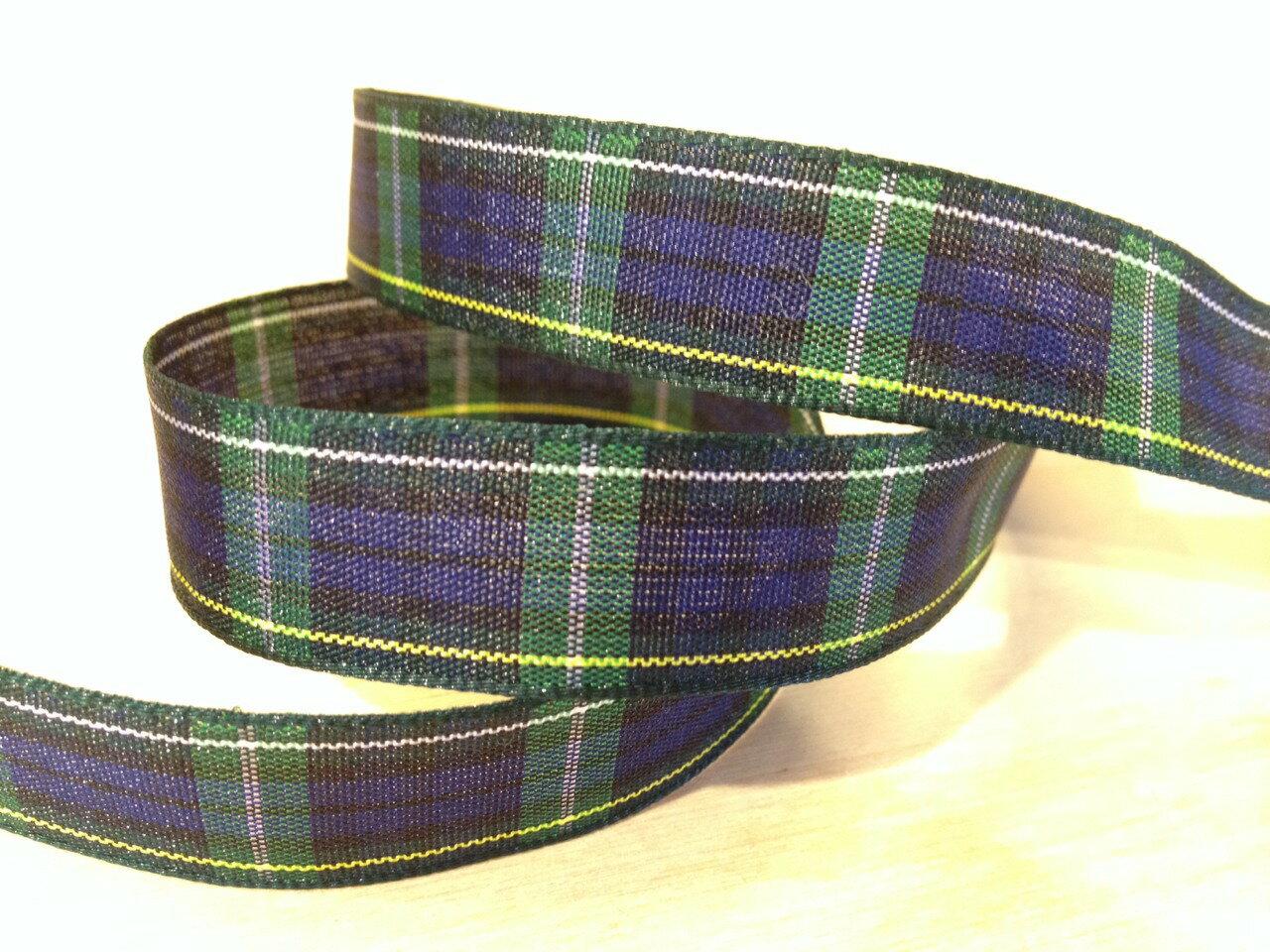 經典蘇格蘭格紋15mm250公分(6色) 0
