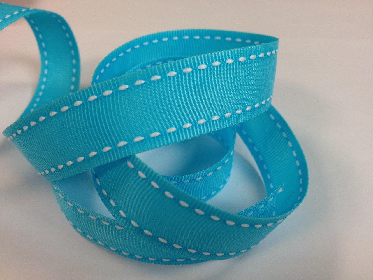 【Crystal Rose緞帶專賣店】橫紋縫線帶-15mm(十五色) 0