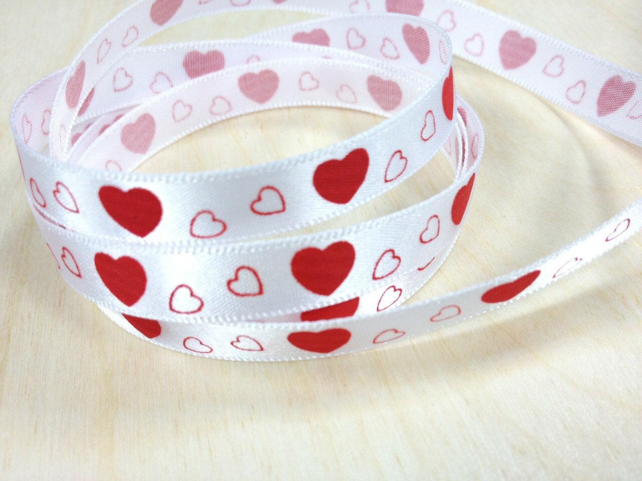 【Crystal Rose緞帶專賣店】緞面愛心10mm(五色) 1