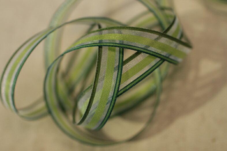 【Crystal Rose緞帶專賣店】透明彩色條紋-15mm(八色)