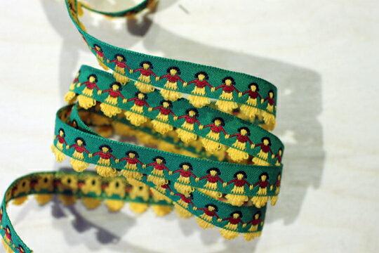 【Crystal Rose緞帶專賣店】裙擺搖搖阿囉哈緹花(六色) 1