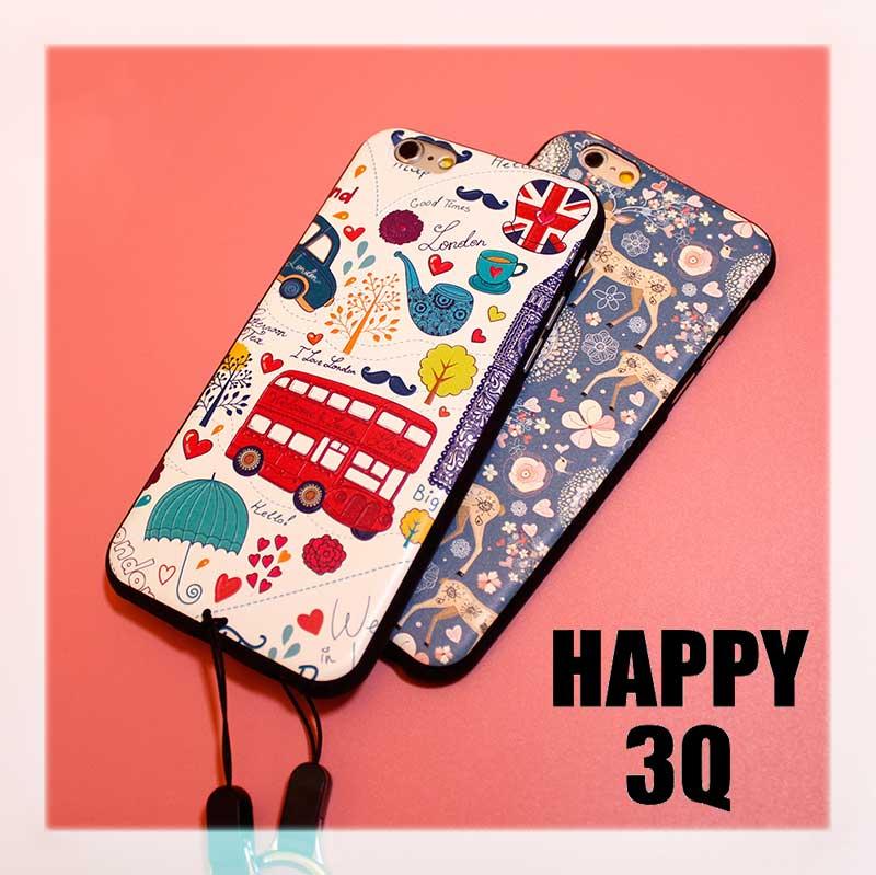 精緻浮雕華麗英國風小鹿矽膠軟殼掛繩iPhone手機殼-iPhone7/6s/SE【AAA0855】