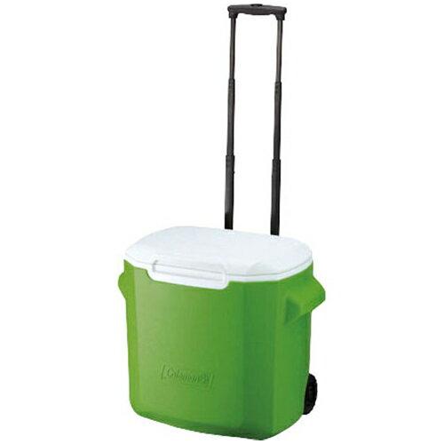 Coleman 美國 | 26.5L拖輪置物型冰桶-綠 | 秀山莊(CM-0491)