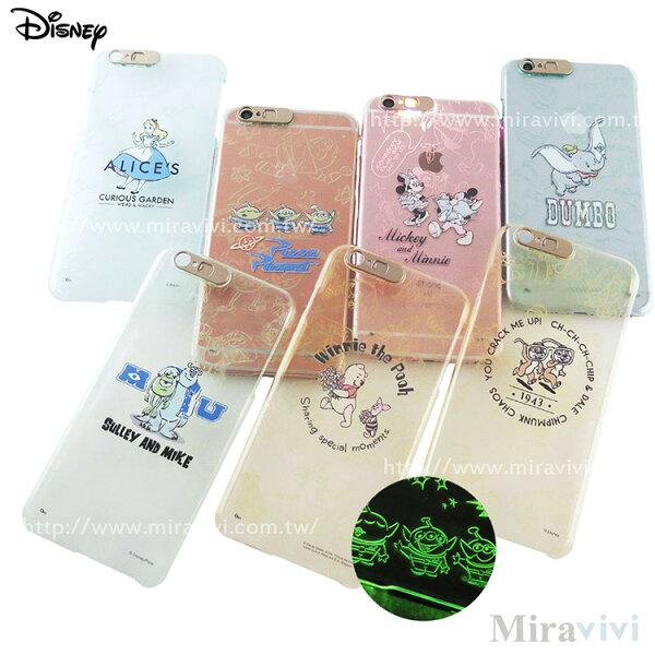 Disney迪士尼iPhone66SPlus(5.5吋)雷雕閃光彩繪保護殼