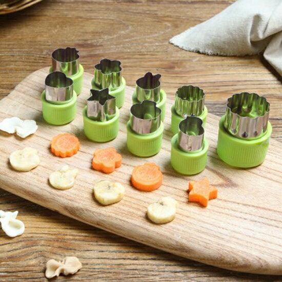 ●MYCOLOR●不銹鋼印花模具(9入)餅乾430不銹鋼麵食造型工具壓花刀切花器【N424】
