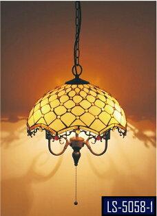 彩繪第凡尼✩普普風X設計聽風貝shell3燈吊燈★永旭照明LS-5058-1(10725H3)