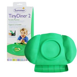 【淘氣寶寶】美國 Summer Infant 防水學習餐墊 Tiny Diner 2 第二代新款 綠色【100%防水材質、易清洗、收納方便】