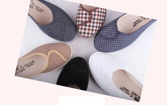 韓版甜美森林系楔型坡跟布面牛津休閒鞋-黑/白(34-40)【187998623351】