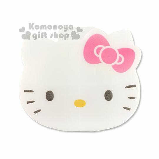 〔小禮堂〕Hello Kitty 造型隨身置物收納盒《白.大臉》內分4格