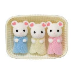 【 EPOCH 】森林家族 - 棉花糖鼠三胞胎