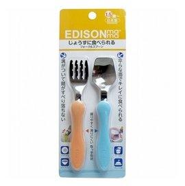 *美馨兒*愛迪生【Edison】幼兒學習湯叉組(桔/藍) 199元