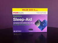 Two Pack Of CVS Health Nighttime Sleep-aid 96 Bonus Softgels