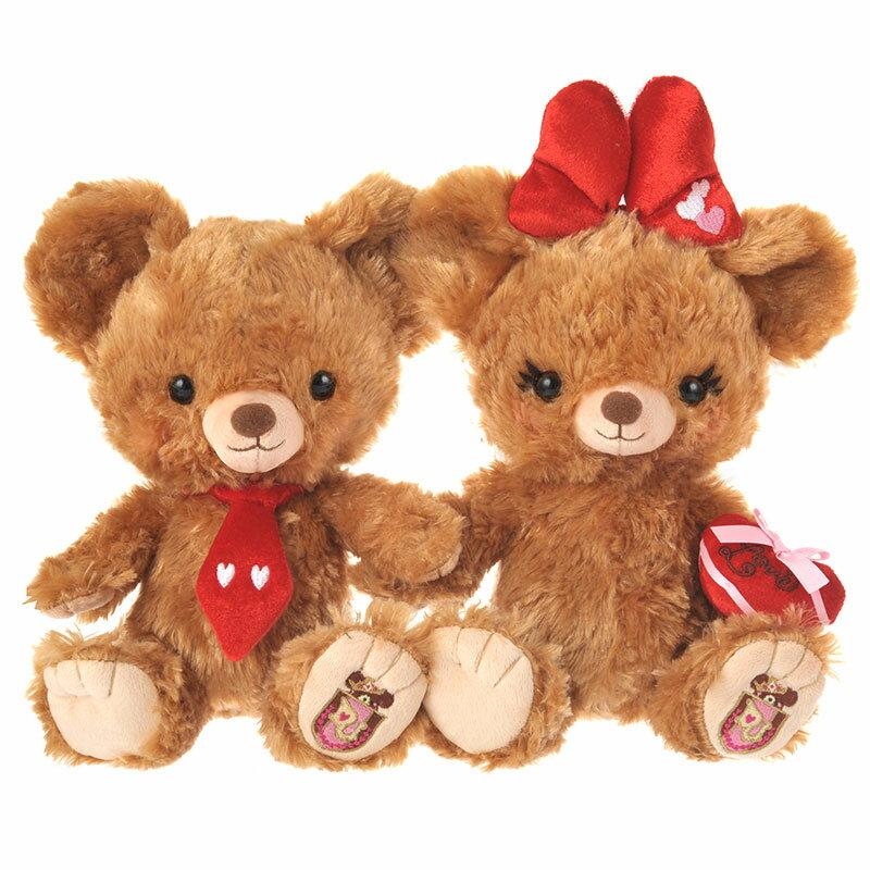 限時搶購 情人節特輯 迪士尼Disney 大學熊系列 玩偶 米奇米妮的大學熊-摩卡布丁情人套組