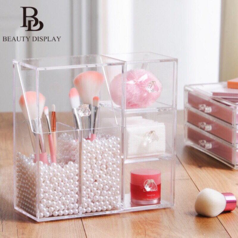 多 防塵刷具筒 美得像專櫃 壓克力收納 透明收納架 氣墊粉撲美妝蛋收納櫃 化妝品刷具筒 刷具收納盒刷具組化妝盒