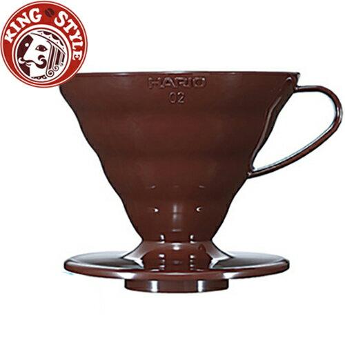 金時代書香咖啡 HARIO V60樹脂圓錐濾杯/ VD-02CBR 1~4杯份 /咖啡色