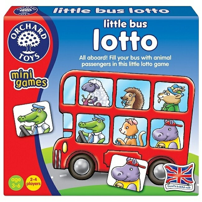 【英國 Orchard Toys】桌遊-車車載滿滿 Little Bus Lotto OT-355