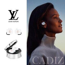 法國正品 Louis Vuitton Horizon White Monogram 白金醋酸纖維無線藍芽耳幾QAB020