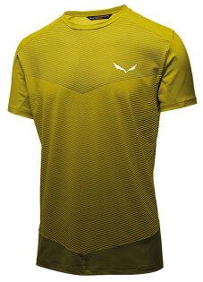 【Salewa德國】PEDROC快乾T恤LOGO短袖T恤運動T恤機能衣芥黃色男款27126-5730