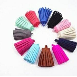 美麗大街【GG03】 韓國絨流蘇麂皮絨流蘇 手機鏈包包挂件鑰匙扣材料DIY飾品配件