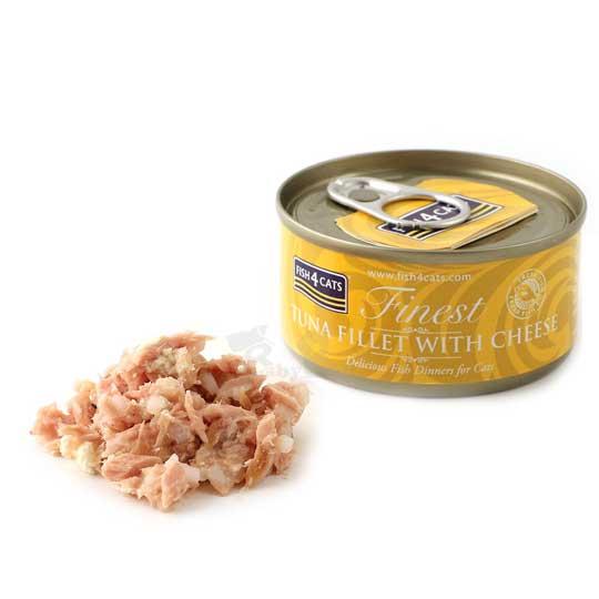 【海洋之星FISH4CATS】鮪魚起司貓罐 (70g/罐)