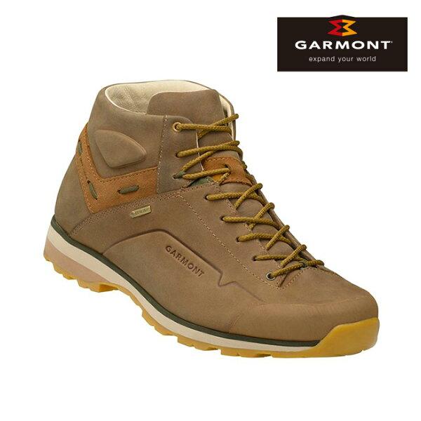 GARMONT男款Gore-Tex中筒休閒旅遊鞋MiguashaNubuckGTX481242212米色城市綠洲(休閒鞋、GoreTex、防水、黃金大底)