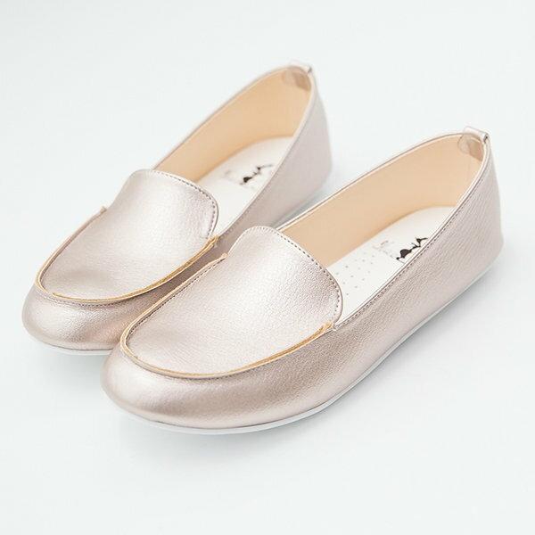 【AW518】MIT台灣製 嚴選經典素面皮革 圓頭包鞋 樂福鞋 懶人鞋 豆豆鞋 3色