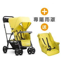 【贈第二座椅】Joovy - Caboose Ultralight Graphite 新款輕量級雙人推車 - 黃+雨罩【悅兒園婦幼生活館】