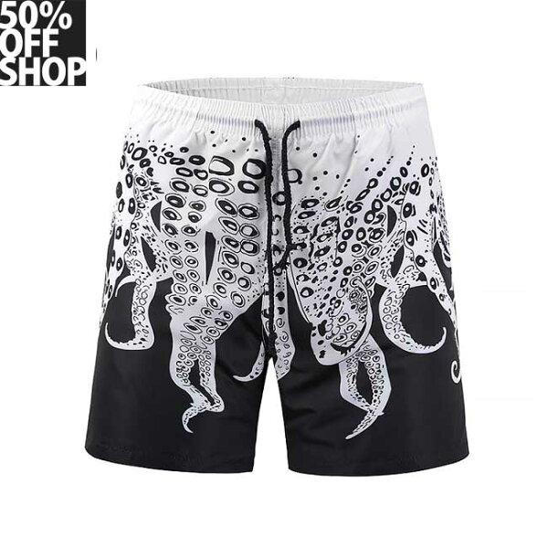 50%OFFSHOP章魚速乾海灘短褲【N036916P】