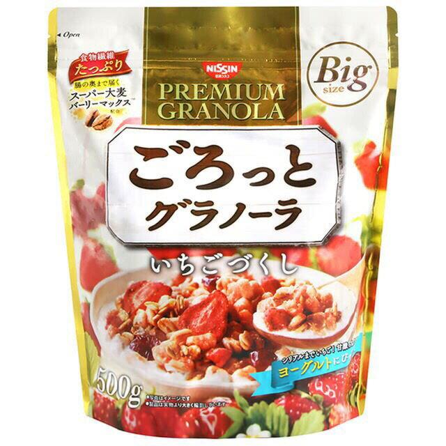 日本知名大廠 日清NISSIN 麥片500g(抹茶/大豆/草莓/水果)