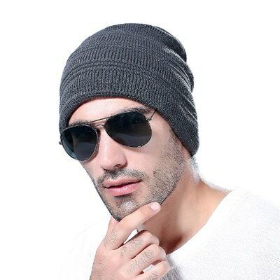 ~針織毛帽男帽子~ 素色簡約 男 5色73if52~ ~~米蘭 ~