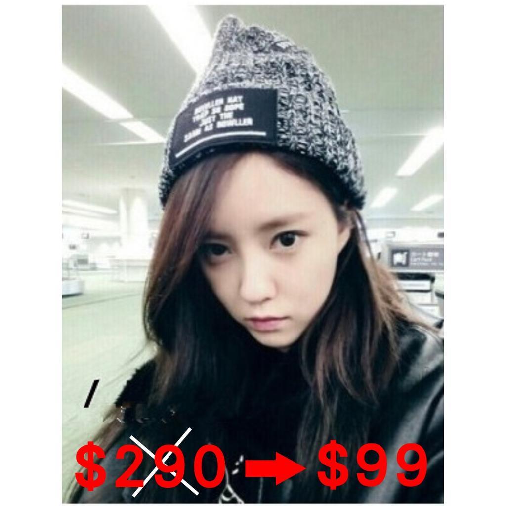 韓國 running man 宋茜同款 BOWLLER 毛線帽 針織帽子毛帽 韓版 字母標籤 男女皆可 有型高質感