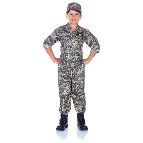 U.S. Army Camo Uniform Set Halloween Costume Child 0