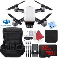 DJI Spark Alpine White Quadcopter Drone 32GB Essentials Bundle