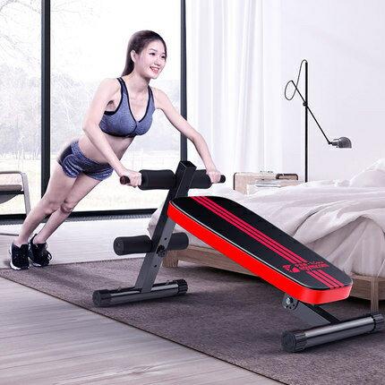 仰臥起坐板家用健身器材多功能二合壹收腹器啞鈴凳腹肌板WY 快速出貨 全館八五折