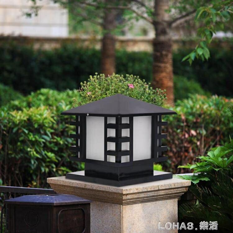 太陽能柱頭燈家用室外花園別墅庭院燈防水門柱大門圍牆門頭戶外燈   【歡慶新年】