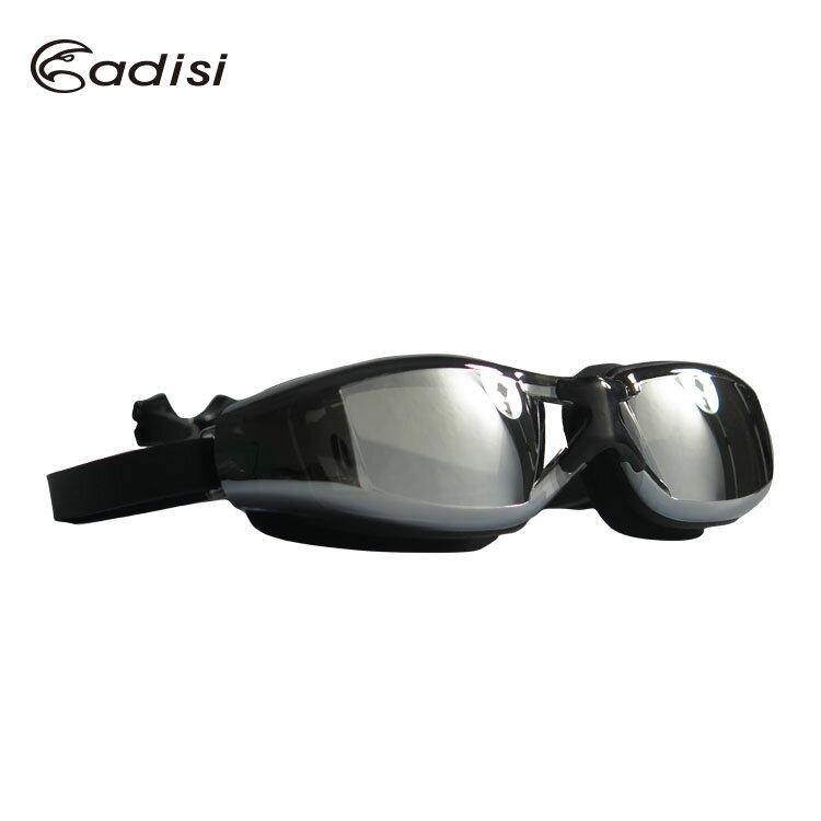 ADISI 快扣平光鍍膜泳鏡 AS16053 / 城市綠洲(快速扣.防霧.抗紫外線)