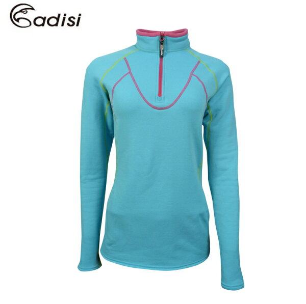 ADISI女半門襟PowerStretchpro保暖上衣AL1521117(S~XL)城市綠洲專賣(吸濕、排汗、抗菌、高透氣、保暖、彈性、內刷毛)