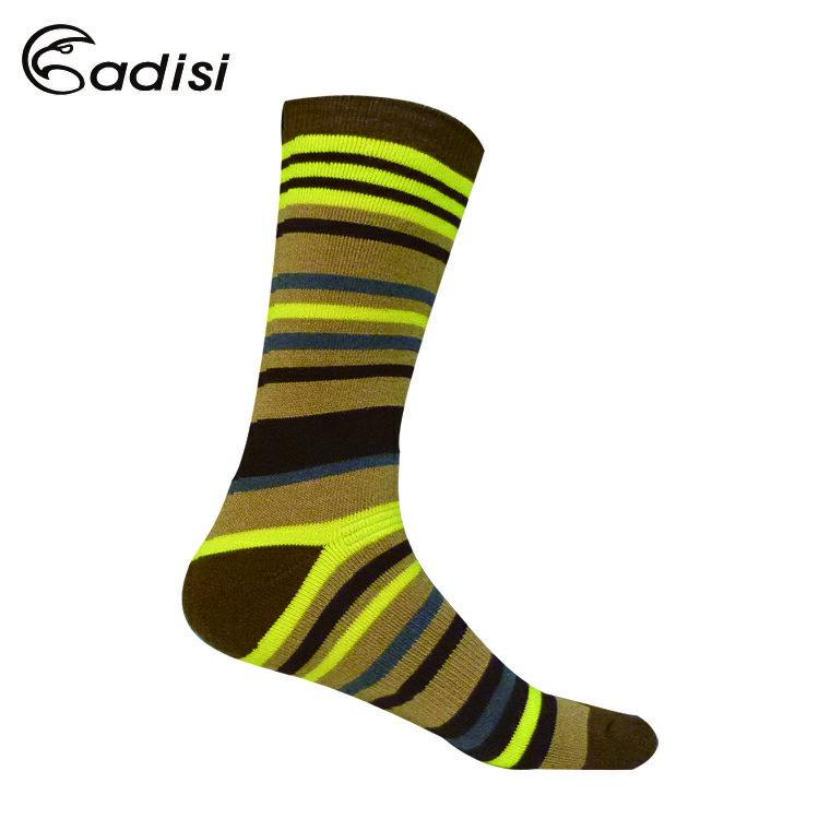 ADISI 條紋保暖對折雪襪AS15216 / 城市綠洲(襪子 中筒襪 滑雪襪 保暖襪 毛襪)