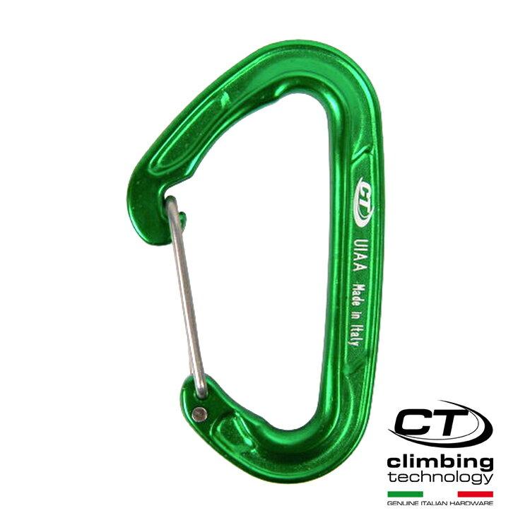 超輕D型鐵線閘口鉤環2C43500 Climbing Technology/城市綠洲(攀岩鉤環、義大利製造、鋁合金)