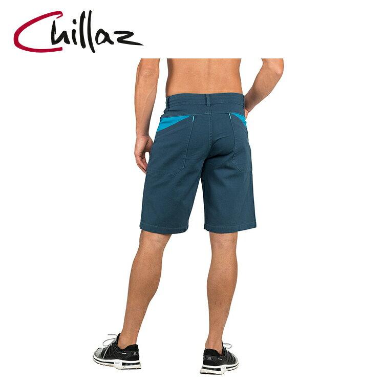 Chillaz 男棉質休閒短褲207090-1 Elias【深藍】 / 城市綠洲 (攀岩、登山、休閒、旅遊、短褲)
