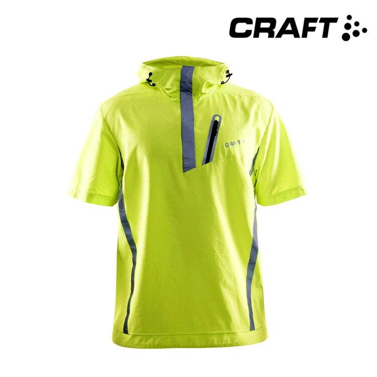 CRAFT 連帽短袖反光風衣1903600 (XS~L) / 城市綠洲 (瑞典品牌.路跑.透氣.運動)