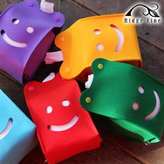 RIDGE LINE 彩色微笑面紙盒 / 城市綠洲( 紙巾盒 不織布 抽取式 戶外 露營 創意)