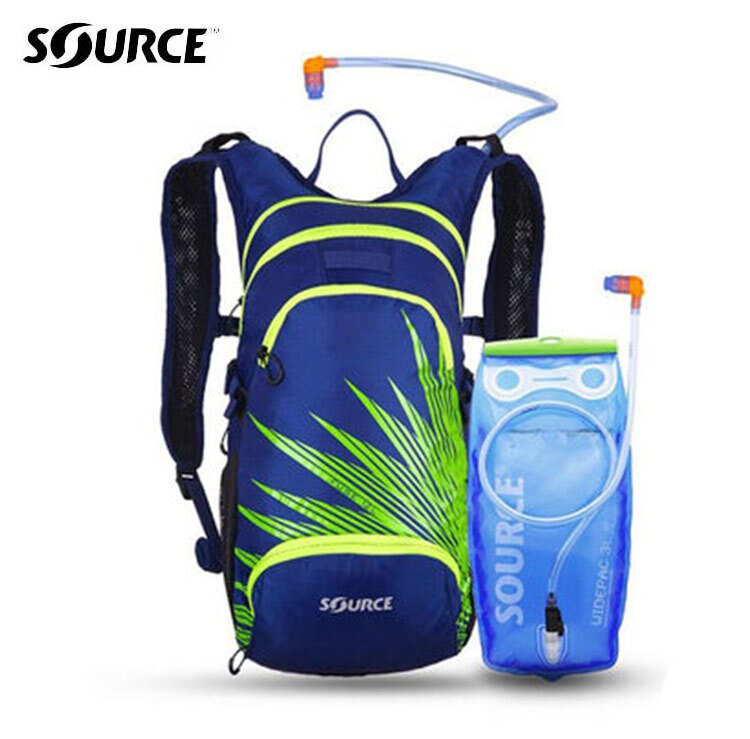 Source 戶外健行水袋背包Fuse2051926402 3L  深藍  綠 男款   城市綠洲 路跑水袋.符合人體工程 .以色列